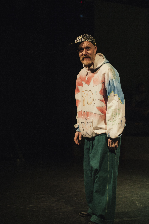 """PIKKU RIKU"" ja OHJAUS - Det sjunde rondellseglet. Teaterboulage 2015. Photo Oliwer Bäcklund"